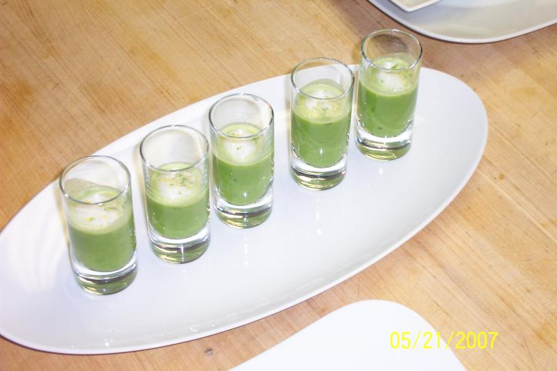 Fiddlehead Fern Shooters With Opal Basil foam